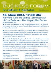 Einladung Business Forum